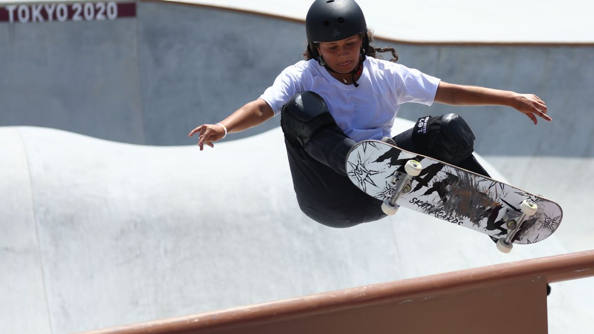 Un momento de la competición de skate en los Juegos.