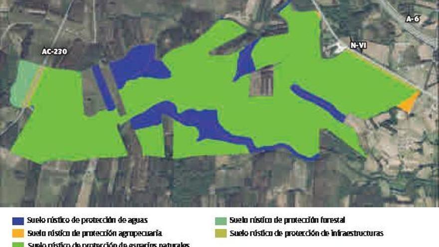 Collazo promueve una explotación de eucalipto en terrenos de protección natural de Aranga