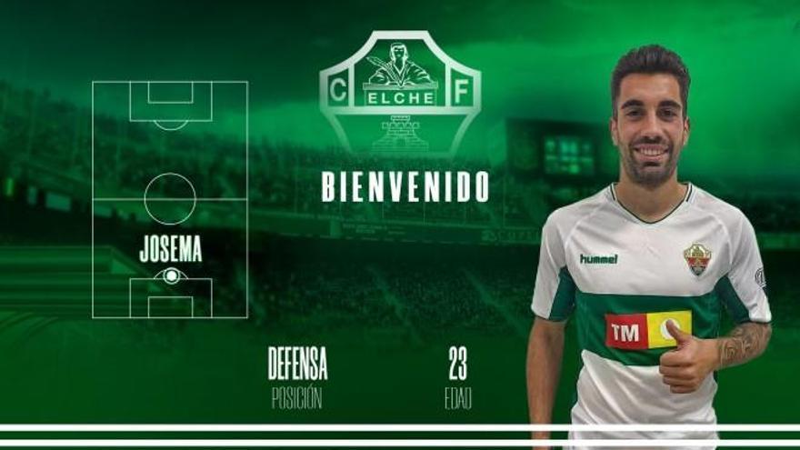 La defensa del Elche CF se refuerza con el fichaje de Josema
