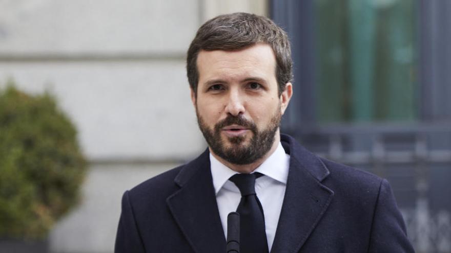 """Casado exige a Sánchez """"romper"""" con EH Bildu: """"Otegi será juzgado por terrorismo"""""""