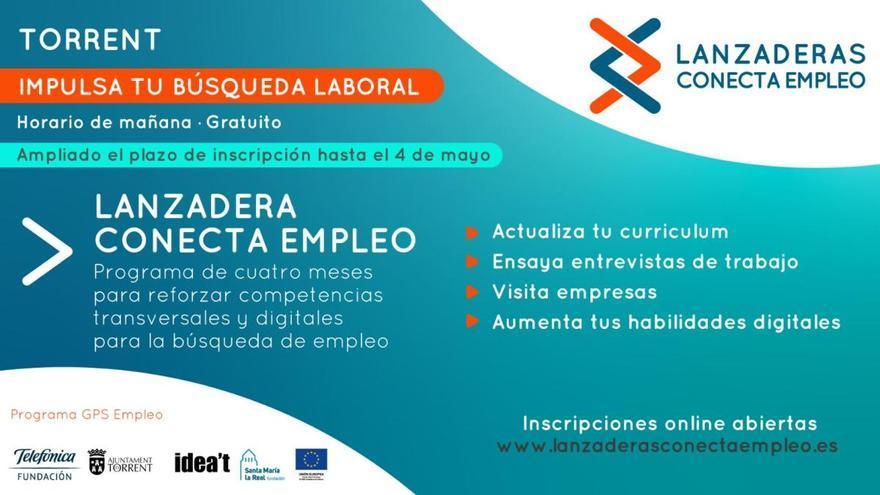 """Nuevas fechas para la """"Lanzadera Conecta Empleo"""" de Torrent"""