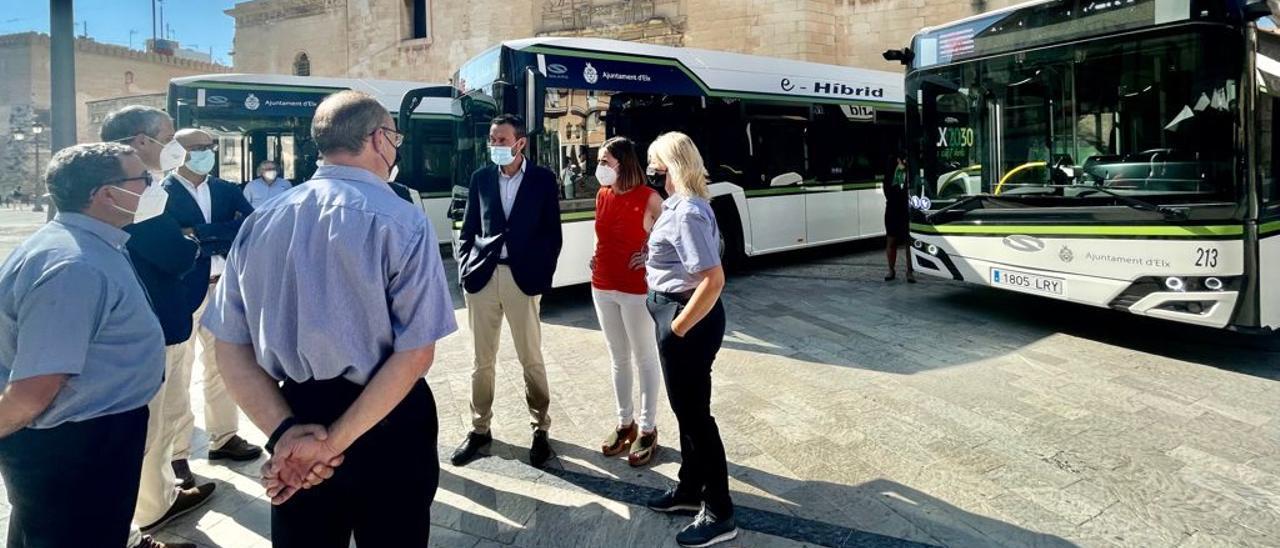Autobuses híbridos en Elche