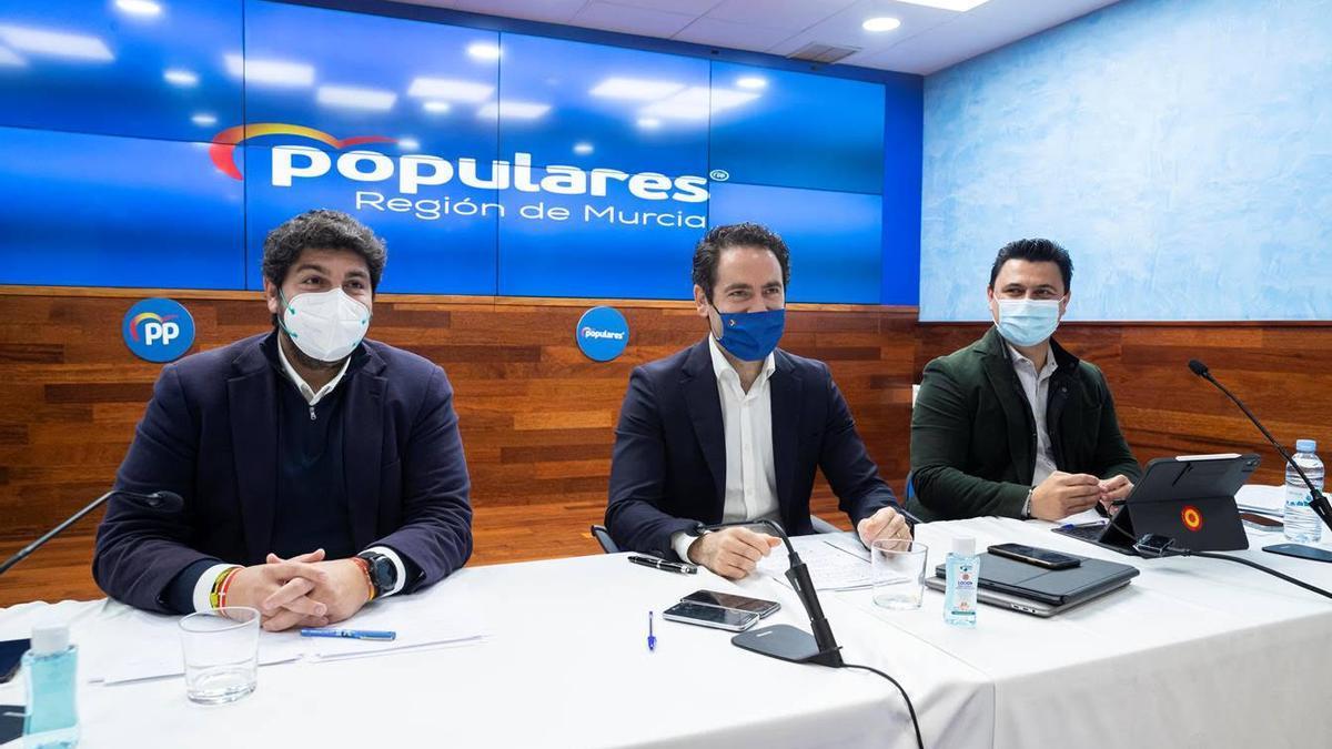 Fernando López Miras, Teodoro García Egea y José Miguel Luengo
