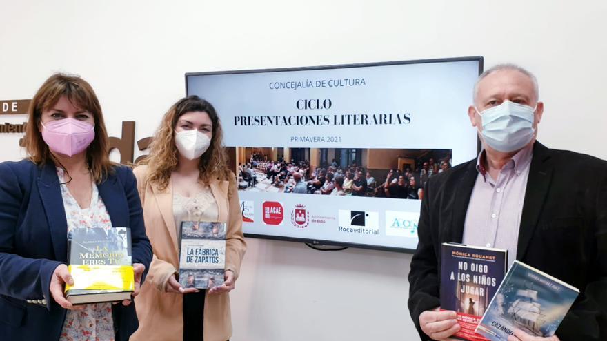 Elia Barceló, Mónica Rouanett, Verónica Martínez y Vicente Escribano presentan sus libros en Elda