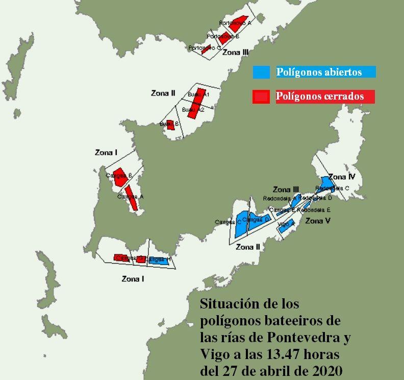 Mapa a partir de datos del Intecmar que muestra el episodio tóxico actual.