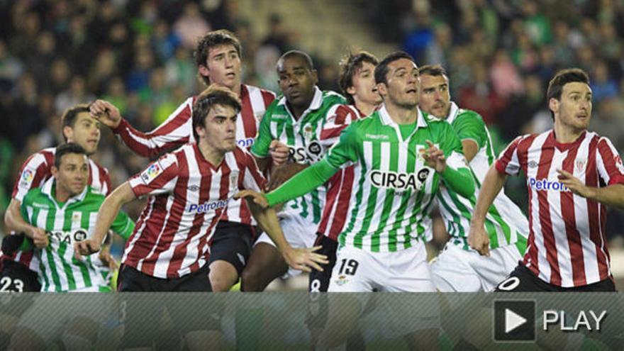 El Athletic de Bilbao perdona a un Betis de 'Champions'