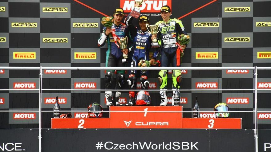 Tercer podi seguit de Borja Sánchez a Supersport 300