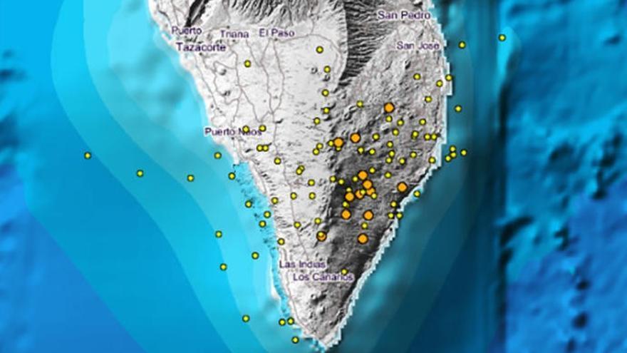 Una quincena de sismos da continuidad al 'enjambre' de Cumbre Vieja