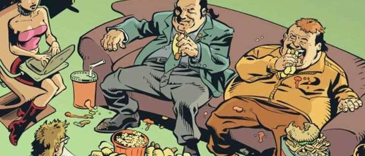 Los hermanos Rothstein en una viñeta del cómic.