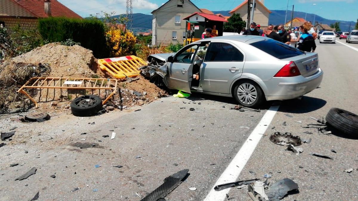 Uno de los vehículos afectados.