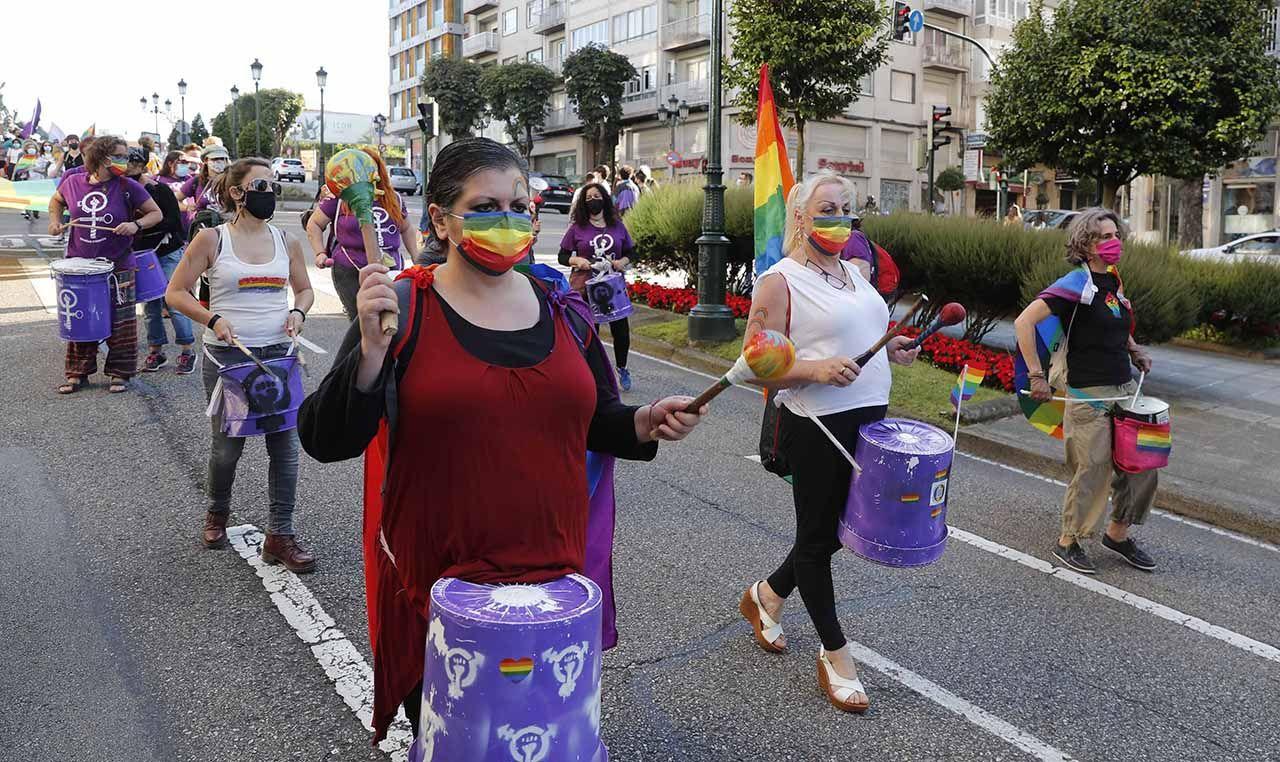 Manifestación del Orgullo LGTBI, el pasado 28 de junio en la Gran Vía de Vigo.
