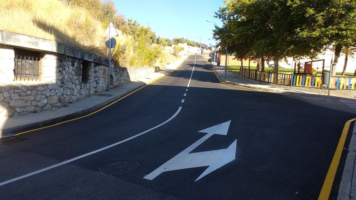 Obras en la calle Espíritu Santo de Zamora capital.