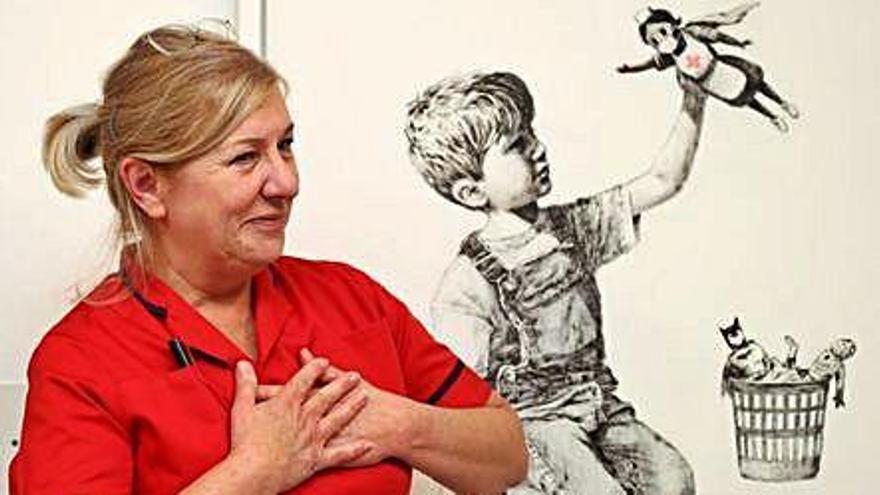 La famosa obra de Banksy en homenaje a los sanitarios, ya tiene dueño