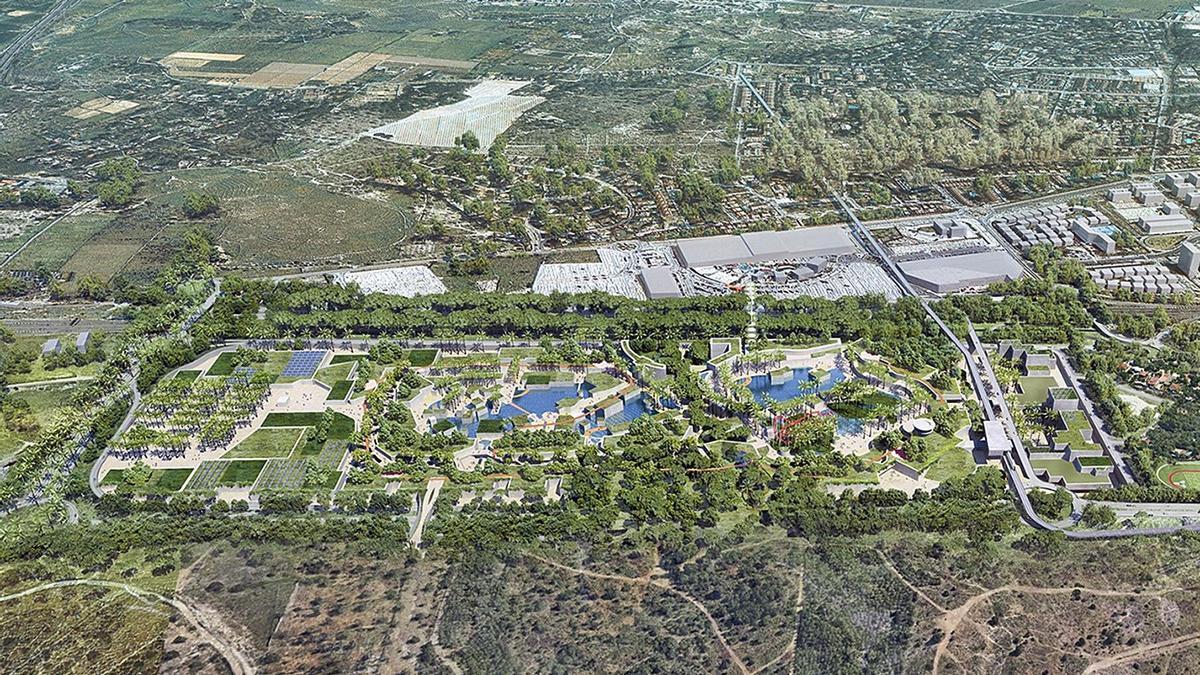 Recreación del complejo comercial y de ocio  Intu Mediterrani.  levante-EMV
