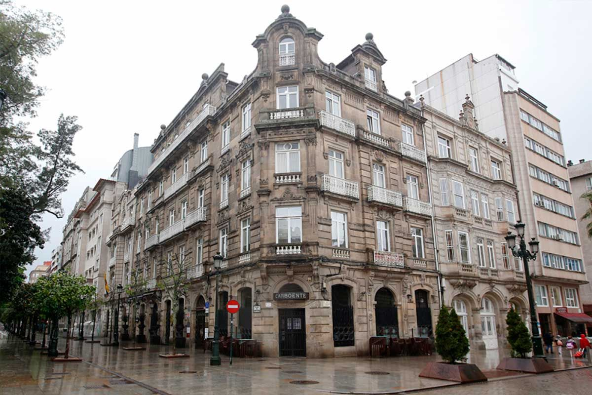 Casa de Rosendo Silva y Salvador Aranda en la Plaza de Compostela. | Ricardo Grobas