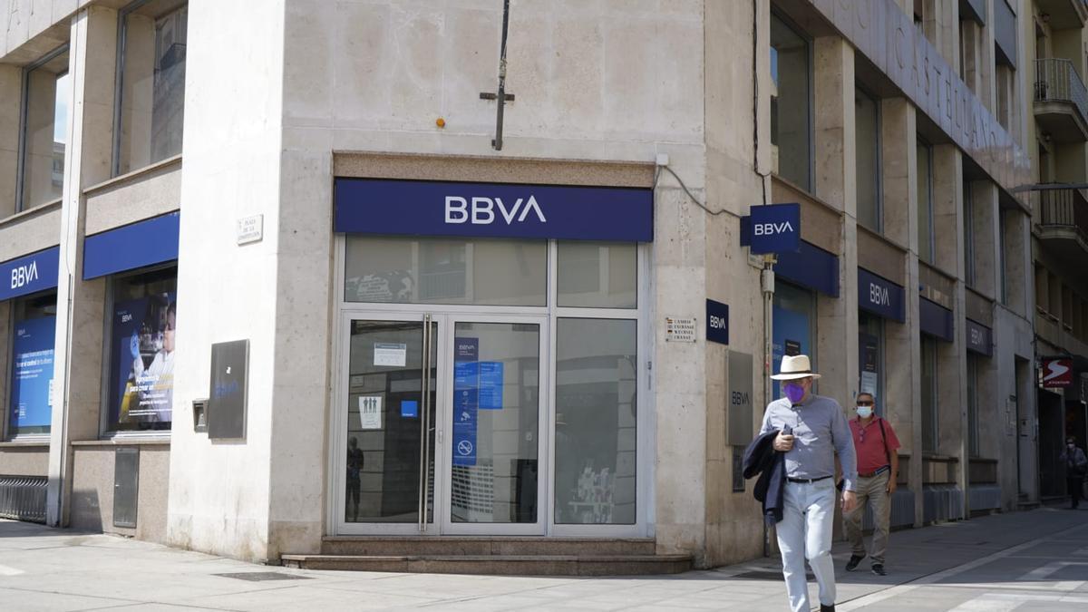 Oficina del BBVA Zamora.