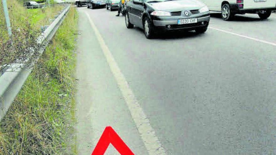 Tráfico «jubila» el triángulo de emergencia por su peligrosidad