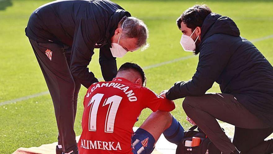 La vuelta de Campuzano, sin fecha a falta de valorar la evolución de la lesión