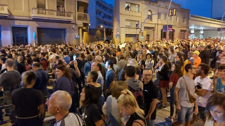 Protesta a Manresa contra la detenció de nou independentistes