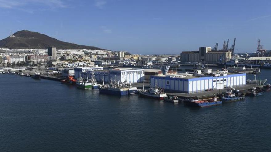 La transformación del Muelle Pesquero avanza con nuevas aceras y viales