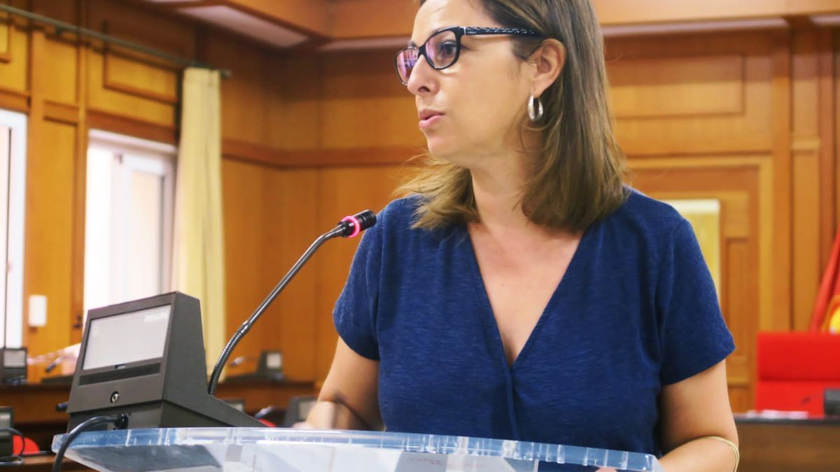 Isabel Ambrosio, en la rueda de prensa de hoy.