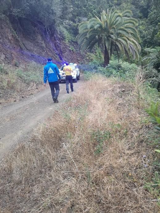 Rescatan a un hombre de 73 años tras pasar varios días en un barranco de La Gomera