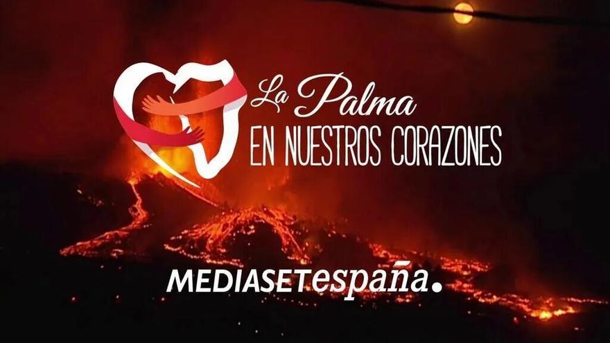 Mediaset España y Mensajeros de la Paz se vuelcan con La Palma
