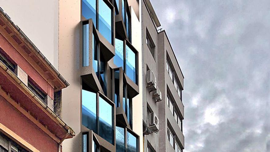 Proyectan un edificio de pisos turísticos de lujo en la calle Covadonga