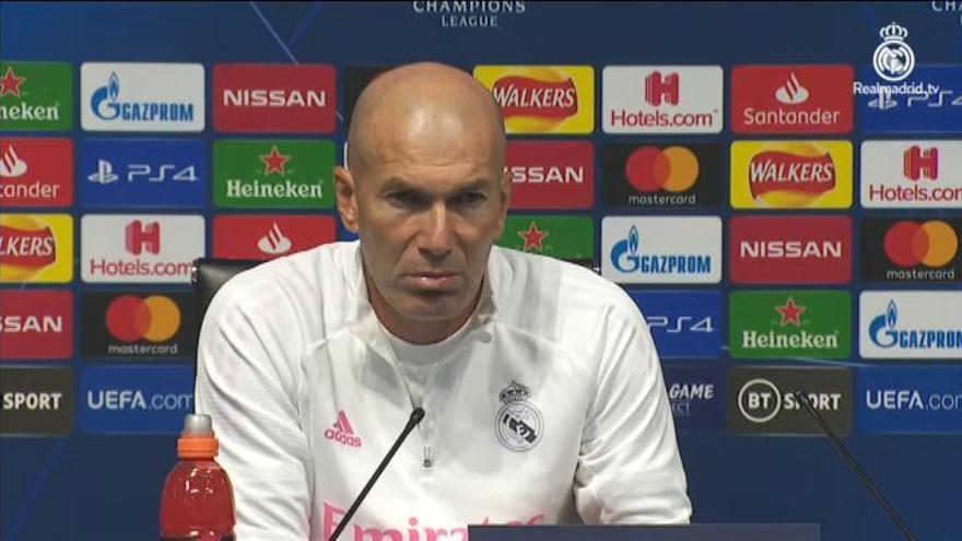 """Zidane, sobre Bale: """"Ha preferido no jugar"""""""