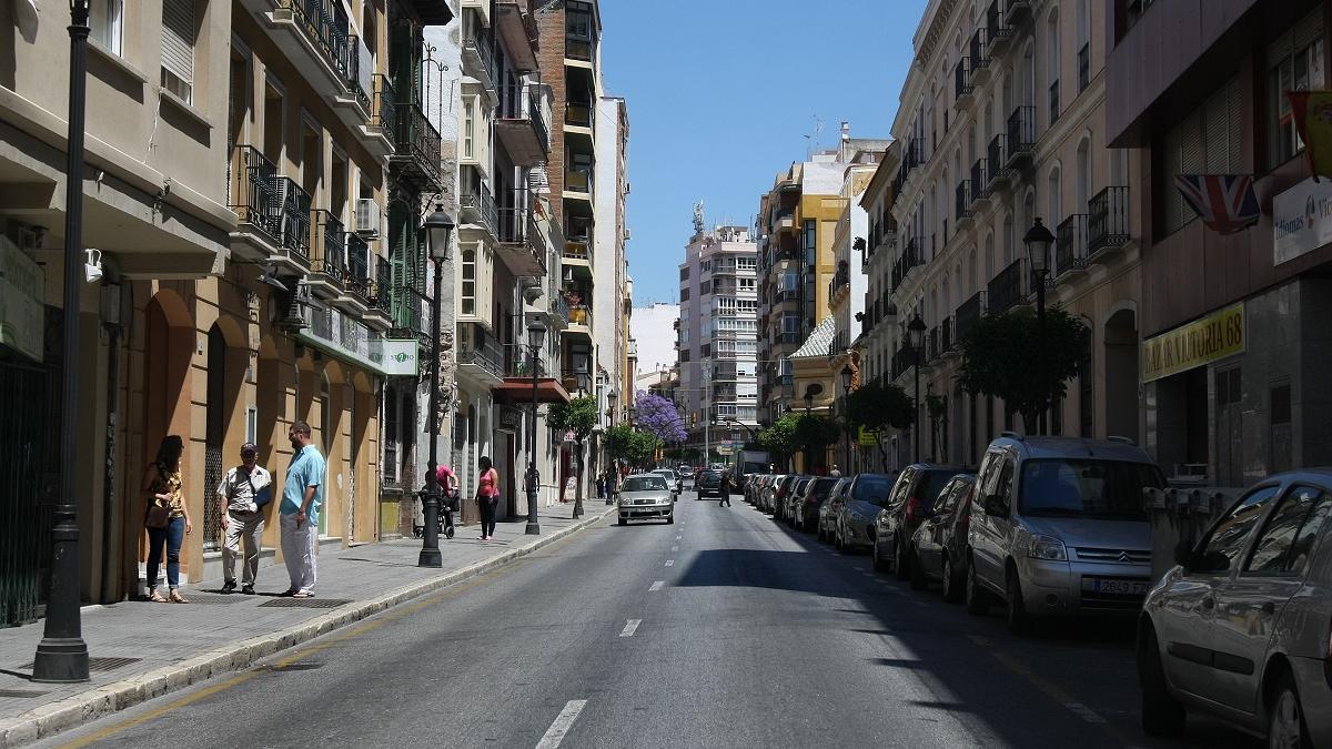 Calle Victoria de Málaga capital.