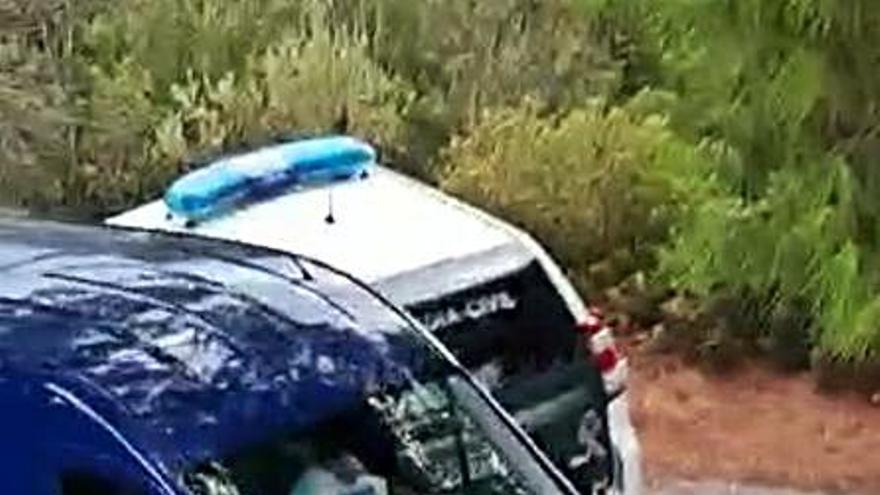 Persecución con tiros al aire y a las ruedas por media Marina Alta