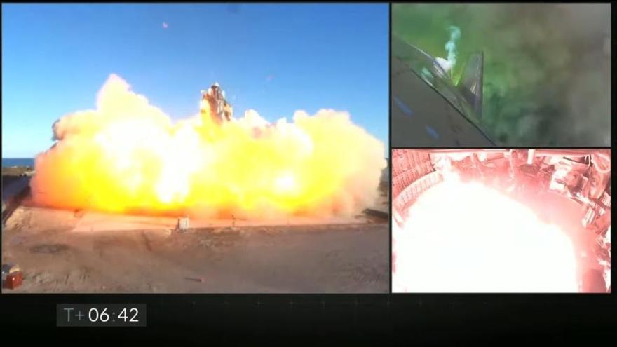 Una nave de SpaceX explota durante un aterrizaje de prueba