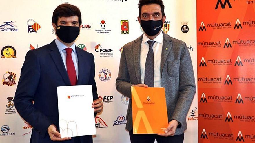 Mutuacat signa un acord per ajudar econòmicament les federacions esportives