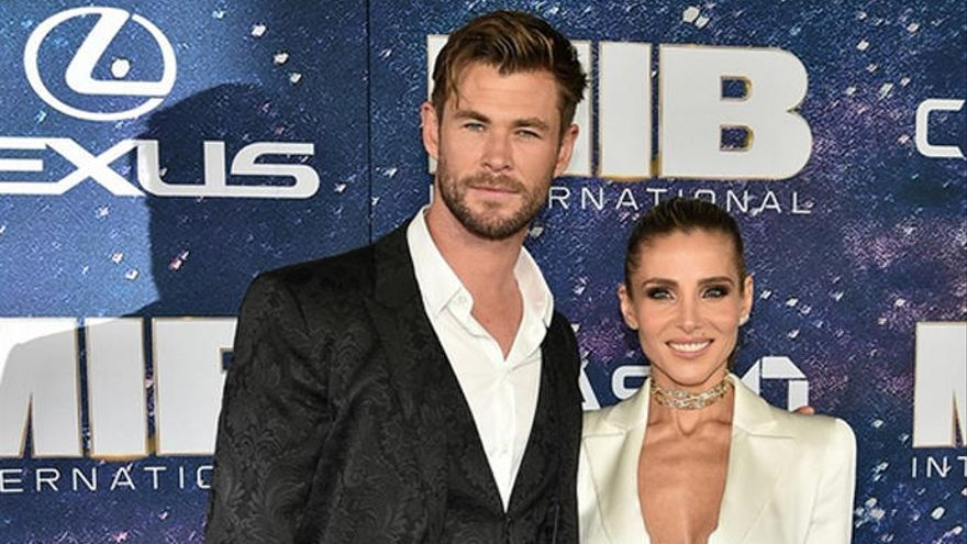 Chris Hemsworth y Elsa Pataky, juntos en el estreno de 'Men in Black: International'