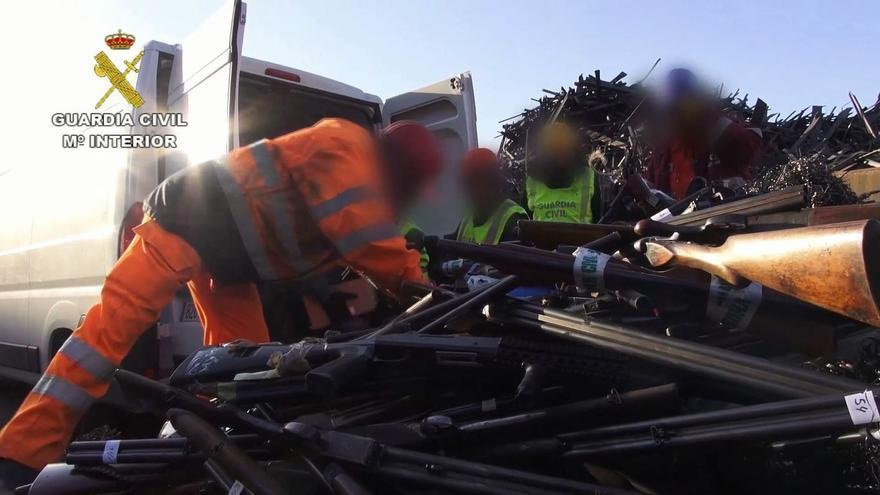 La Guardia Civil destruyó 1.829 armas en Córdoba durante el 2020