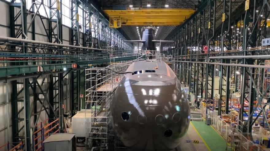 El astillero de Navantia en Cartagena termina la fabricación del S-81 Isaac Peral