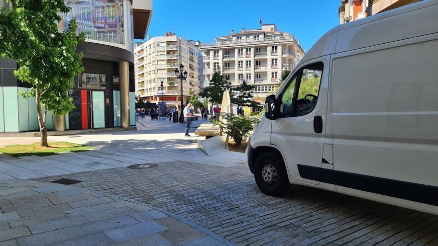 Vilagarcía, donde en las zonas peatonales también hay riesgo