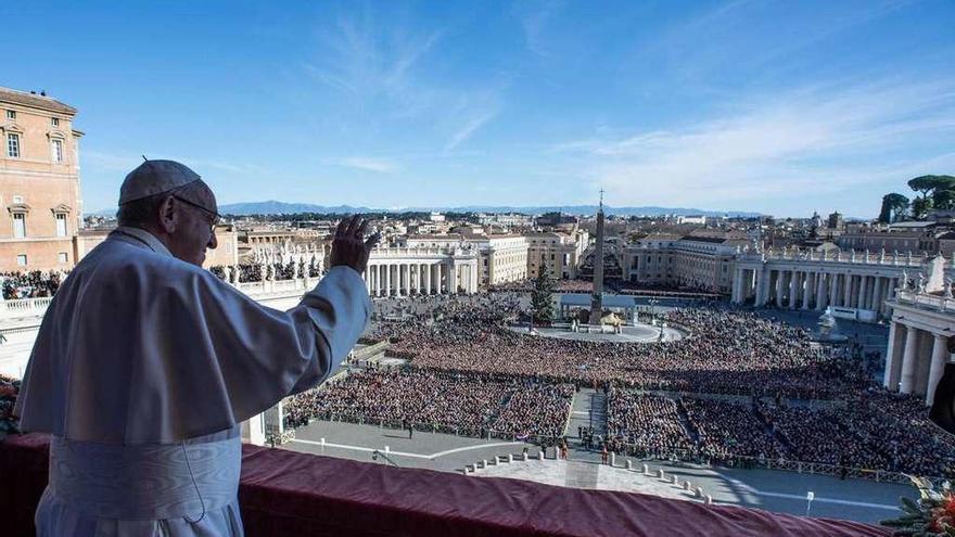 El Papa clama por la paz de palestinos e israelíes en su mensaje de Navidad