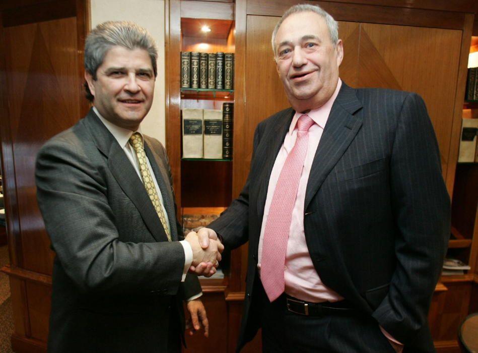 El empresario Fernando Martín y Manuel Jove.