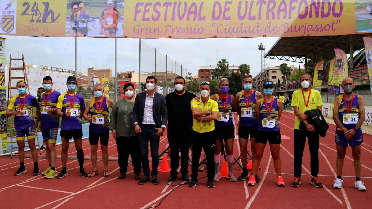 Equipo del Club Atletisme Els Sitges