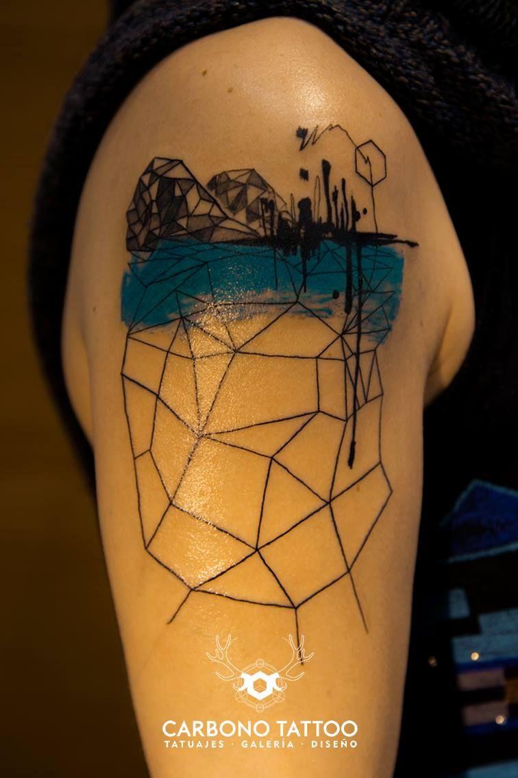 Vigo abstracto. // Miguel Castro (Carbono Tattoo)
