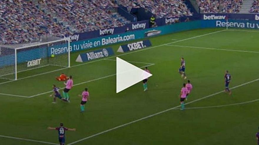 Así fueron los goles del Levante contra el Barcelona: ¡Qué locura!