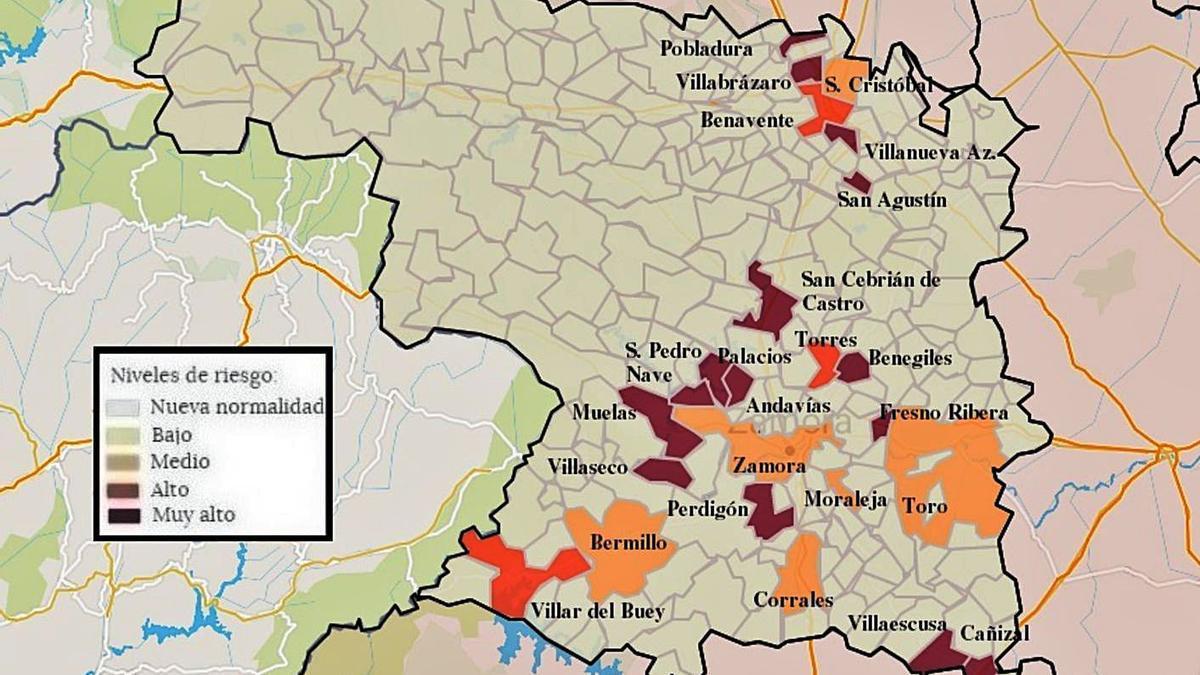 24 localidades han tenido algún contagio de coronavirus en las últimas dos semanas.   L.O.Z.