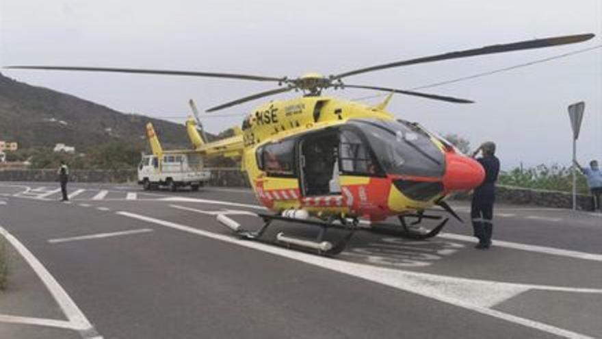 Un motorista, grave en una colisión con un coche en La Orotava