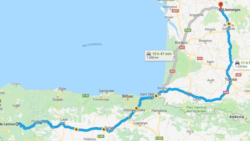 Un conductor francès es desorienta i acaba a Galícia, a més de mil quilòmetres de casa seva