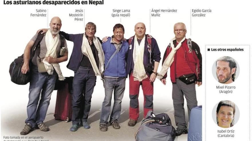 Exteriores da por muertos a los cuatro avilesinos en Nepal y deja de buscarlos