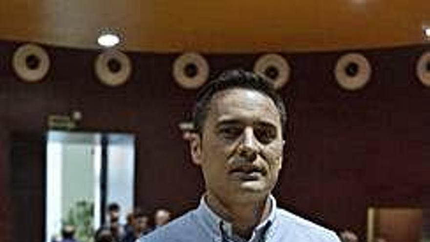 José Ángel Sánchez Cerezal, antes de la charla en el campus.