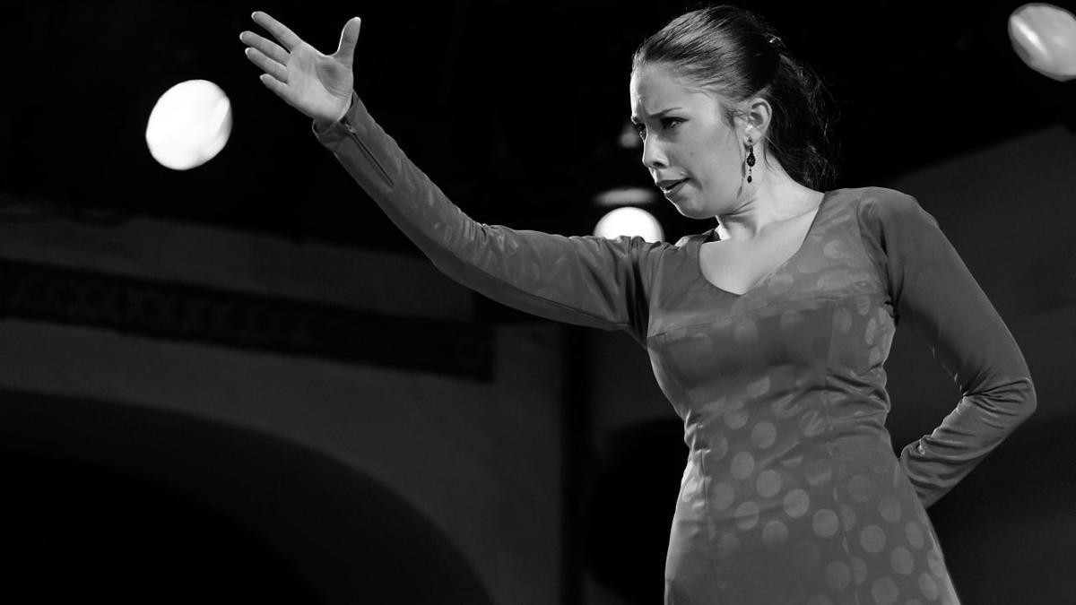 La bailaora Irene Rueda durante una actuación, en una imagen de archivo.
