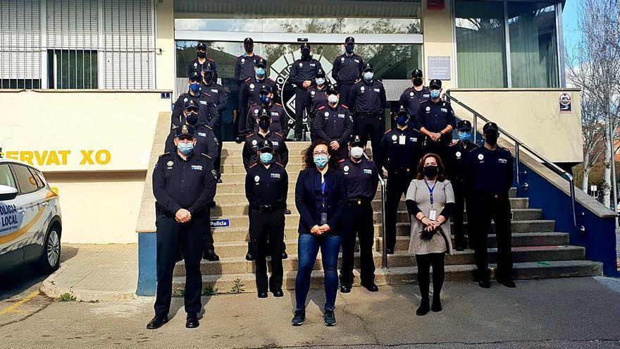 Toma de posesión de nuevos policías locales de Palma en prácticas