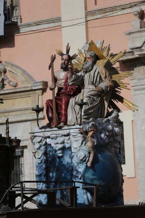 Las Rocas, expuestas en la plaza de la Virgen